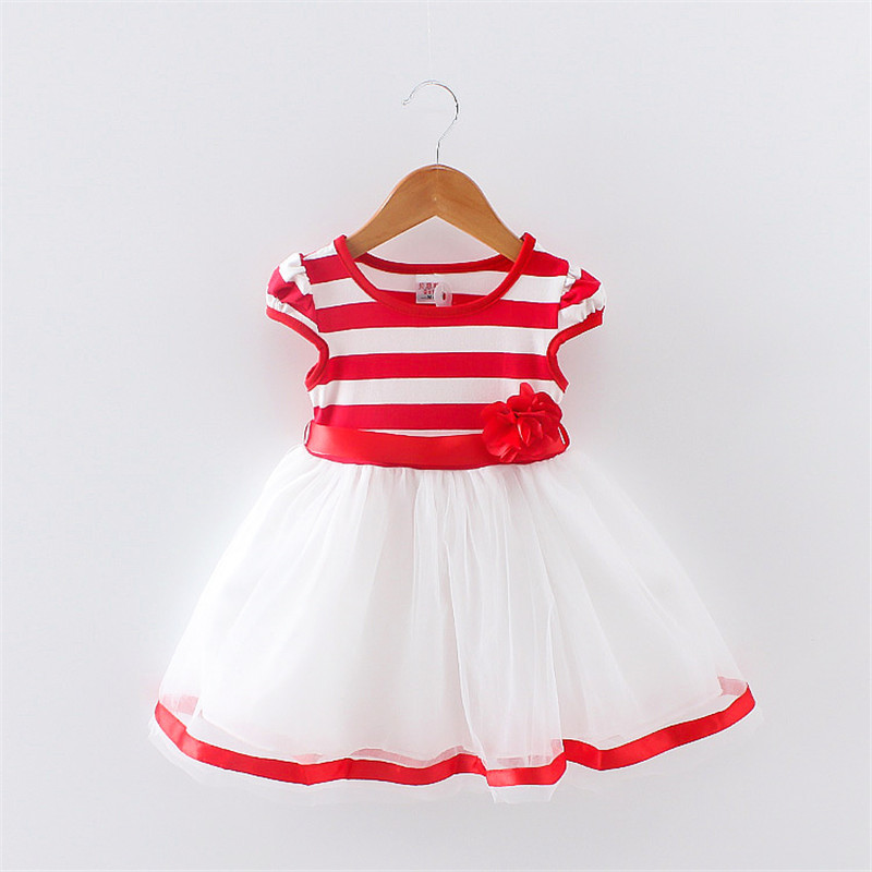Customized summer one year baby party dresses newborn baby dress