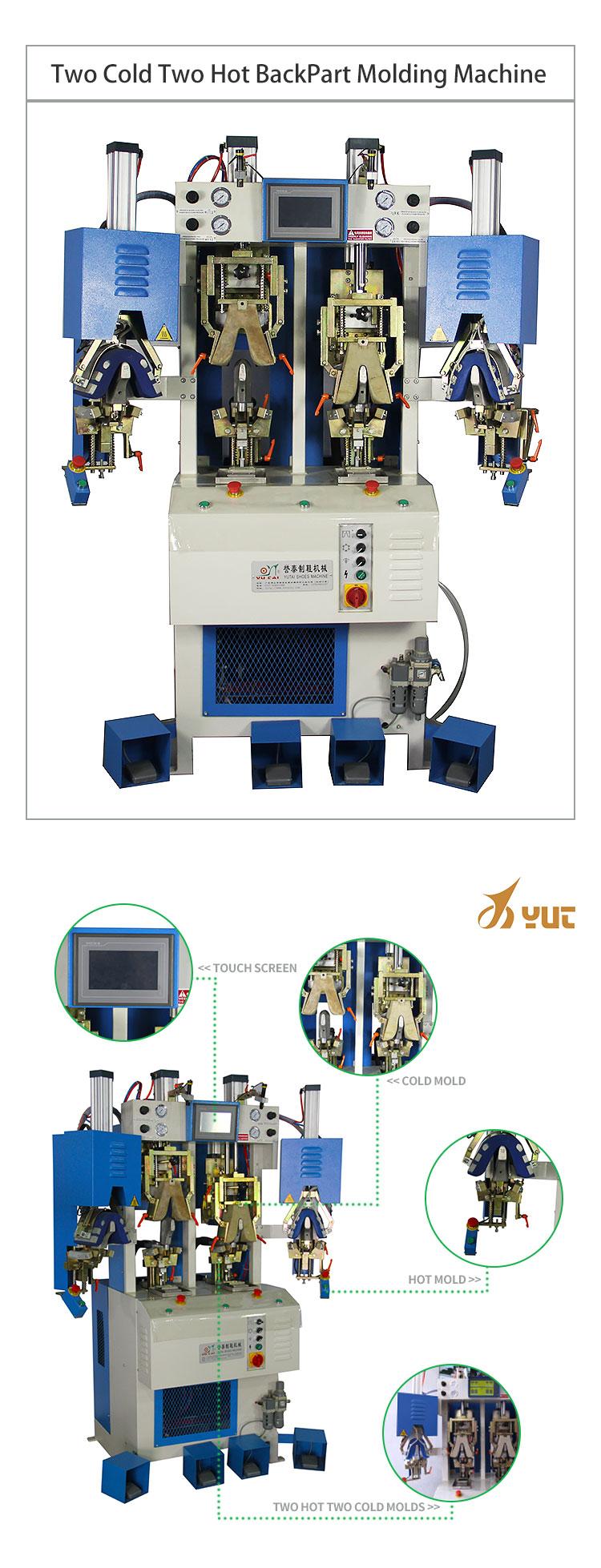 YT-866 Foshan zapato contra moldeo por máquina de frío y caliente parte de la máquina de moldeo