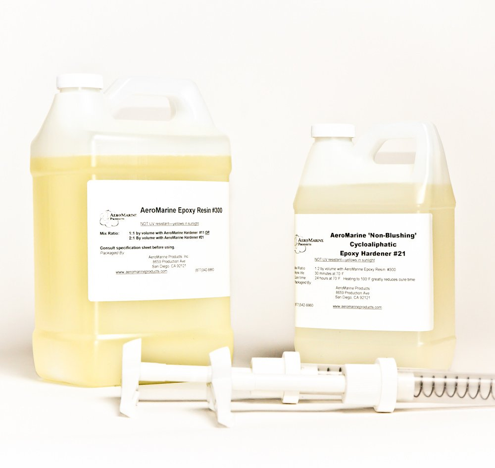 AeroMarine 300/21 Epoxy Resin 1.5 Gallon Kit with Pumps