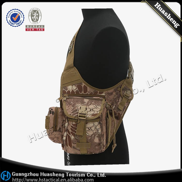 Crazy selling kryptek camouflage tactical gear military outdoor shoulder waist bag