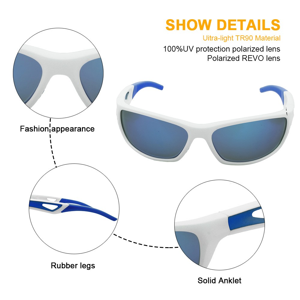 Professional manufacturer supplier outdoor TR90 polarized sports sunglasses