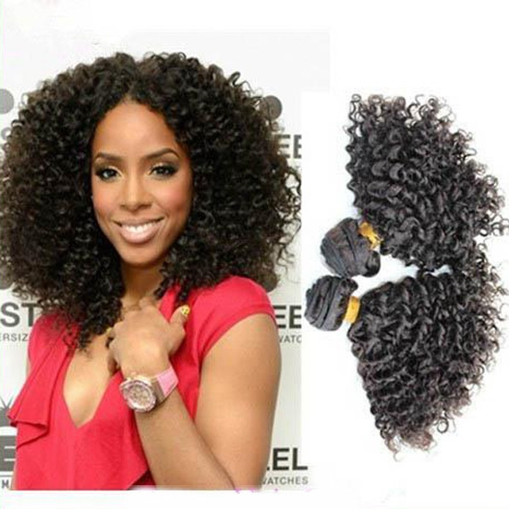 2015hot Selling High Quality Malaysian Remy Hair Afro Kinky Curl Sew