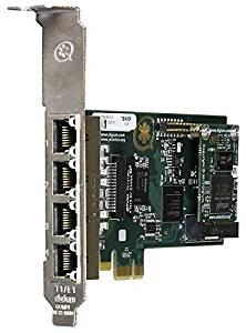 Digium 1TE435F 4 Span Digital T1/E1/J1/PRI PCI-Express X1 Card