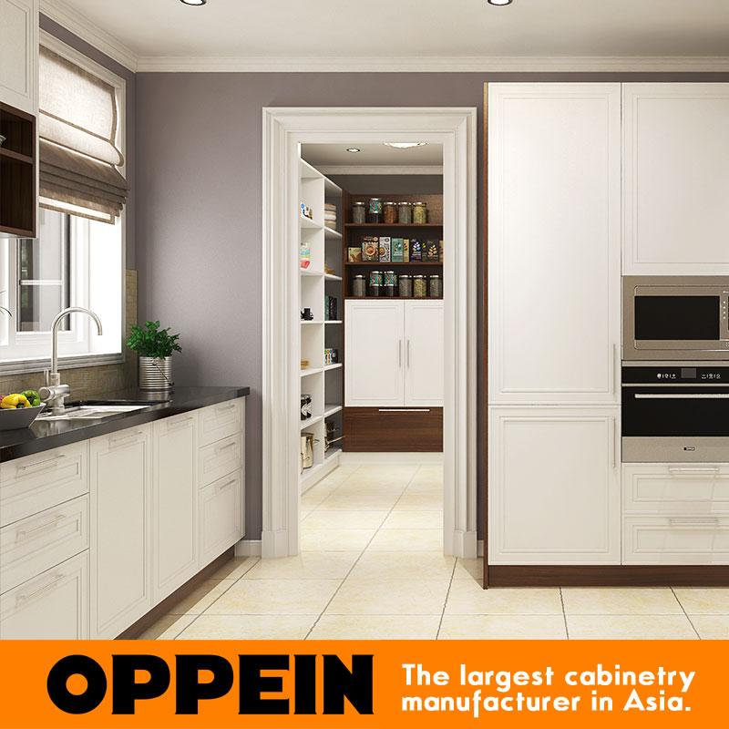 2016 muebles de cocina modulares diseños armario De Madera de alta ...