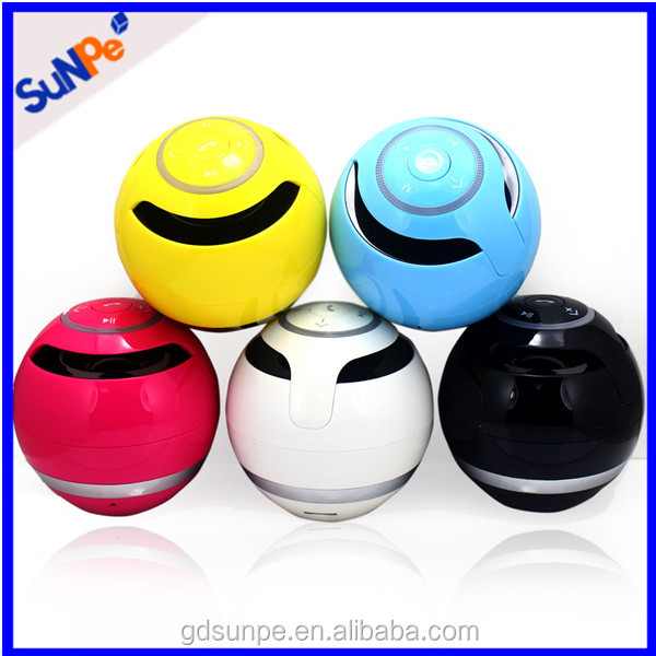Mobile Phone Accessories Flashing Led Light Portable Mini Ball Bluetooth Speaker