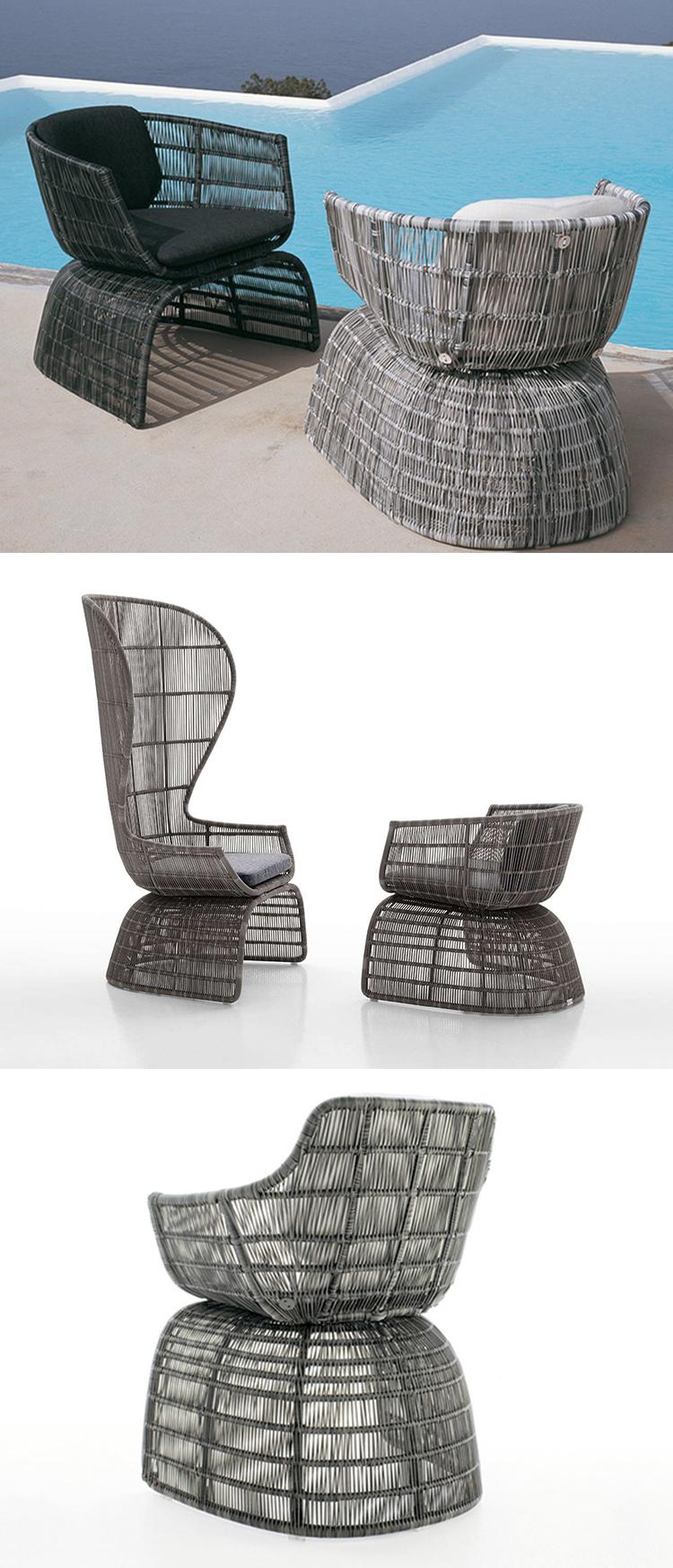 New design muebles terraza rattan outdoor furniture sofa set