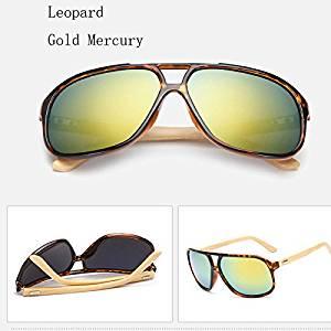Skuleer(TM)Vintage Mens Wood Sunglasses Brand Designer Bamboo Sun Glasses For Men Oversized Mirrored Sunglass Goggles Sport Shades lunette