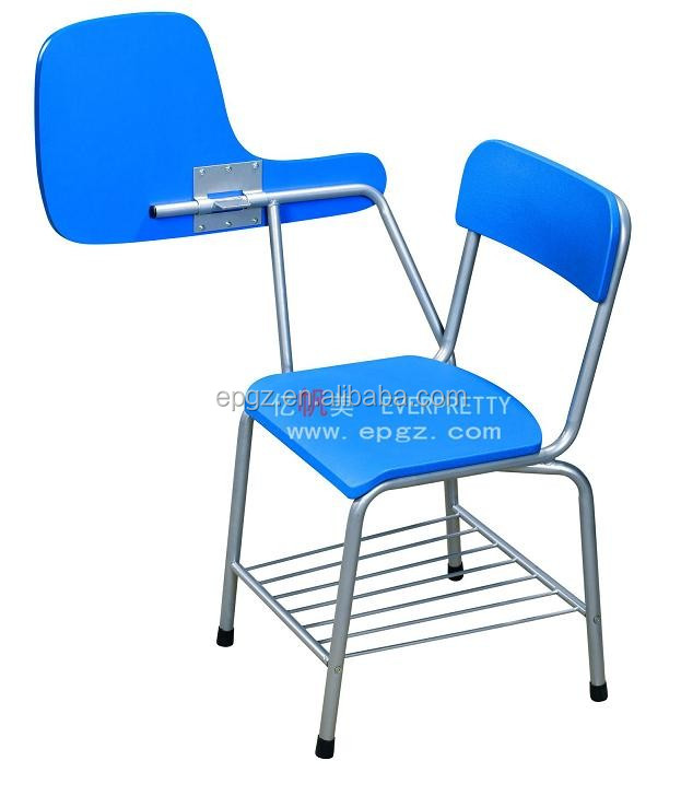 School Chair With Folding Writing Pad With Big Basket