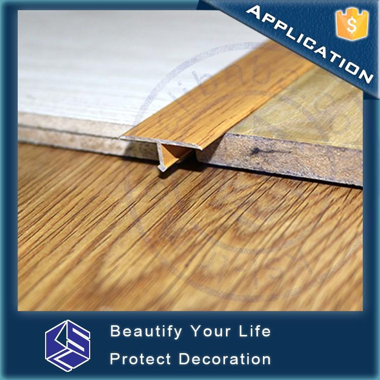 Flexible Transition Strips Aluminum T Shape Metal Wood