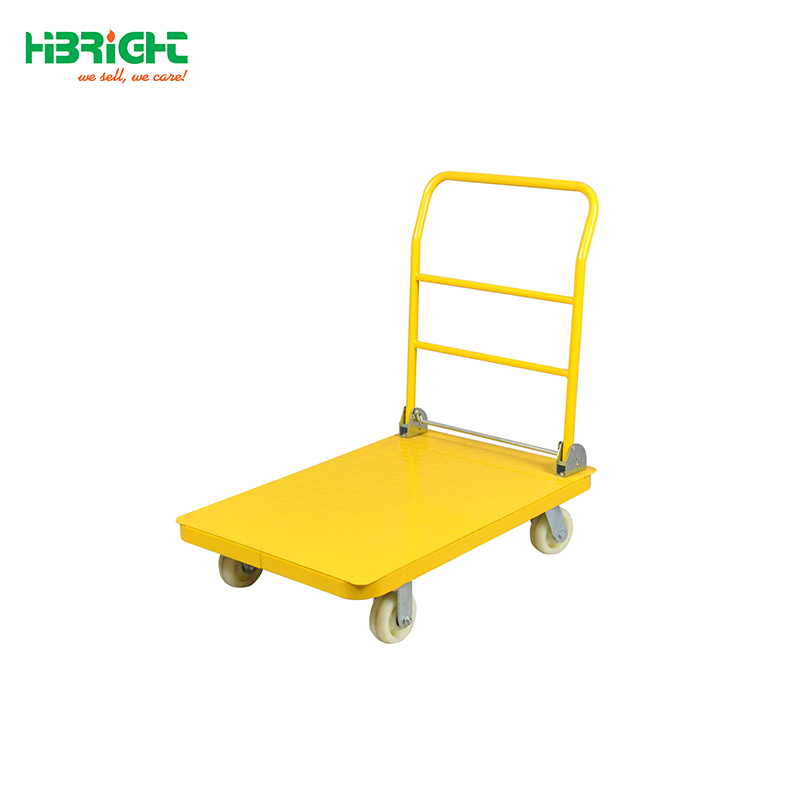 warehouse foldable platform hand trolley