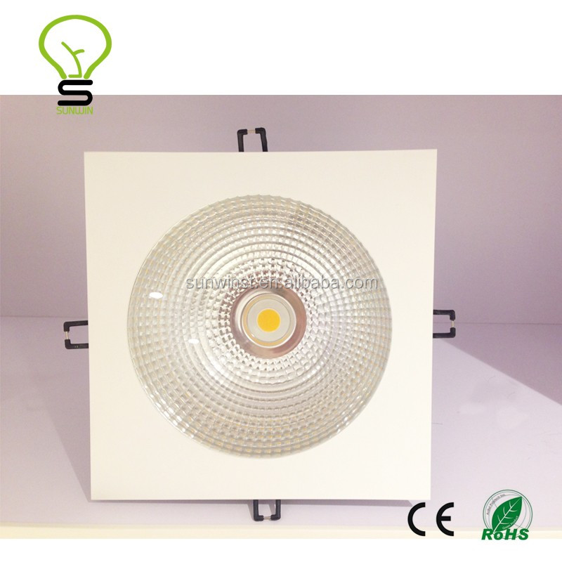 4000-4500K pure white 20w led cob <strong>downlight</strong> square led recessed light 15w20w30w40w50w