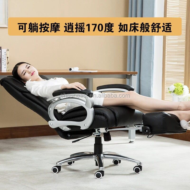 Classical genuine leather office boss chair / manager office