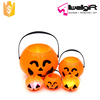 Halloween Prop Plastic Smile Pumpkin Bucket Basket Candy Pot Holder