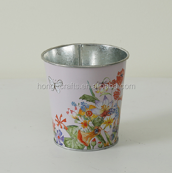 Cheap Bulk Small Bucket Custom Printing Colors Decorative Metal Small Flower Pots Buy Decorative Small Pots Small Flower Pots Bulk Flower Pots