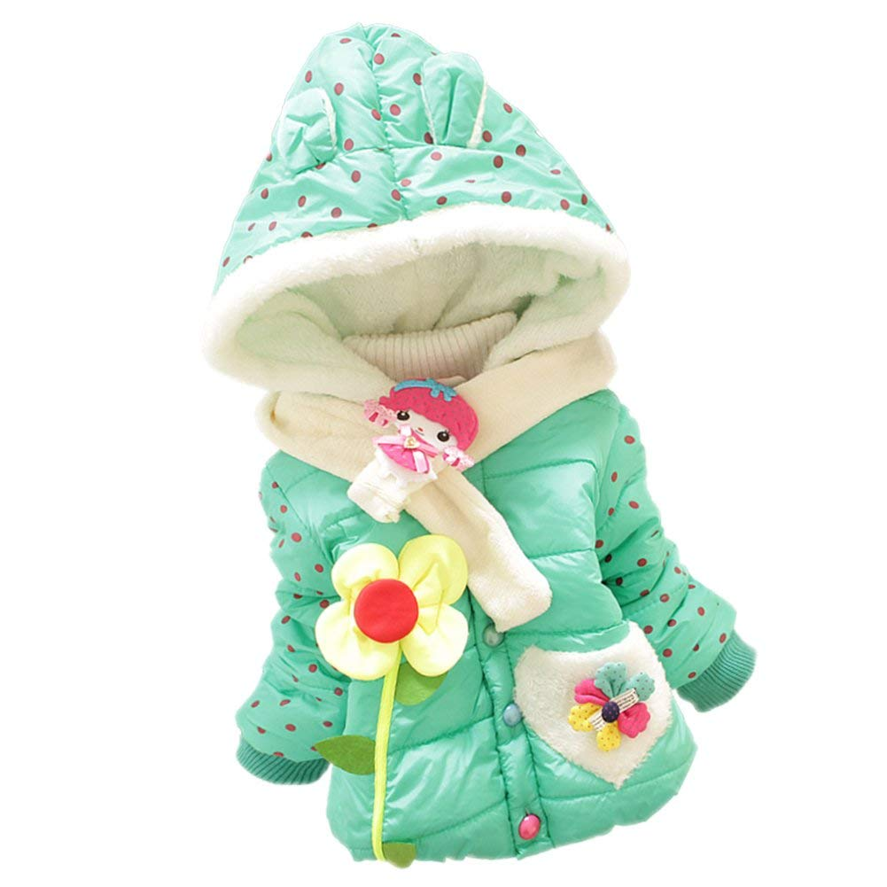 Taiycyxgan Baby Girls Kids Rabbit Cotton-padded clothes Outwear Coat Jacket Snowsuit