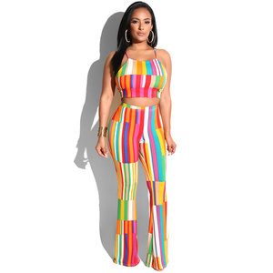 Fashion Design Sexy Ladies 2 piece Jumpsuits Two Piece Set Women Clothing