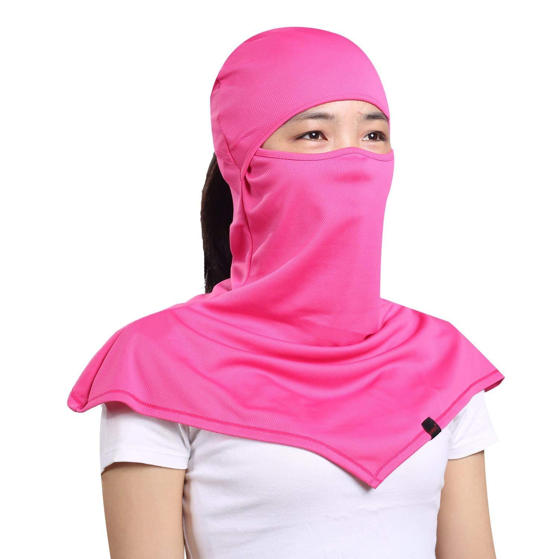 b3eb3dff5fa Get Quotations · AIWOLU Balaclava for Women- Windproof and Dust Moisture  Wicking Women s Full Face Mask Longer Elastic