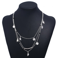 Leaf Layered Sterling Silver Necklace wholesales NS800883