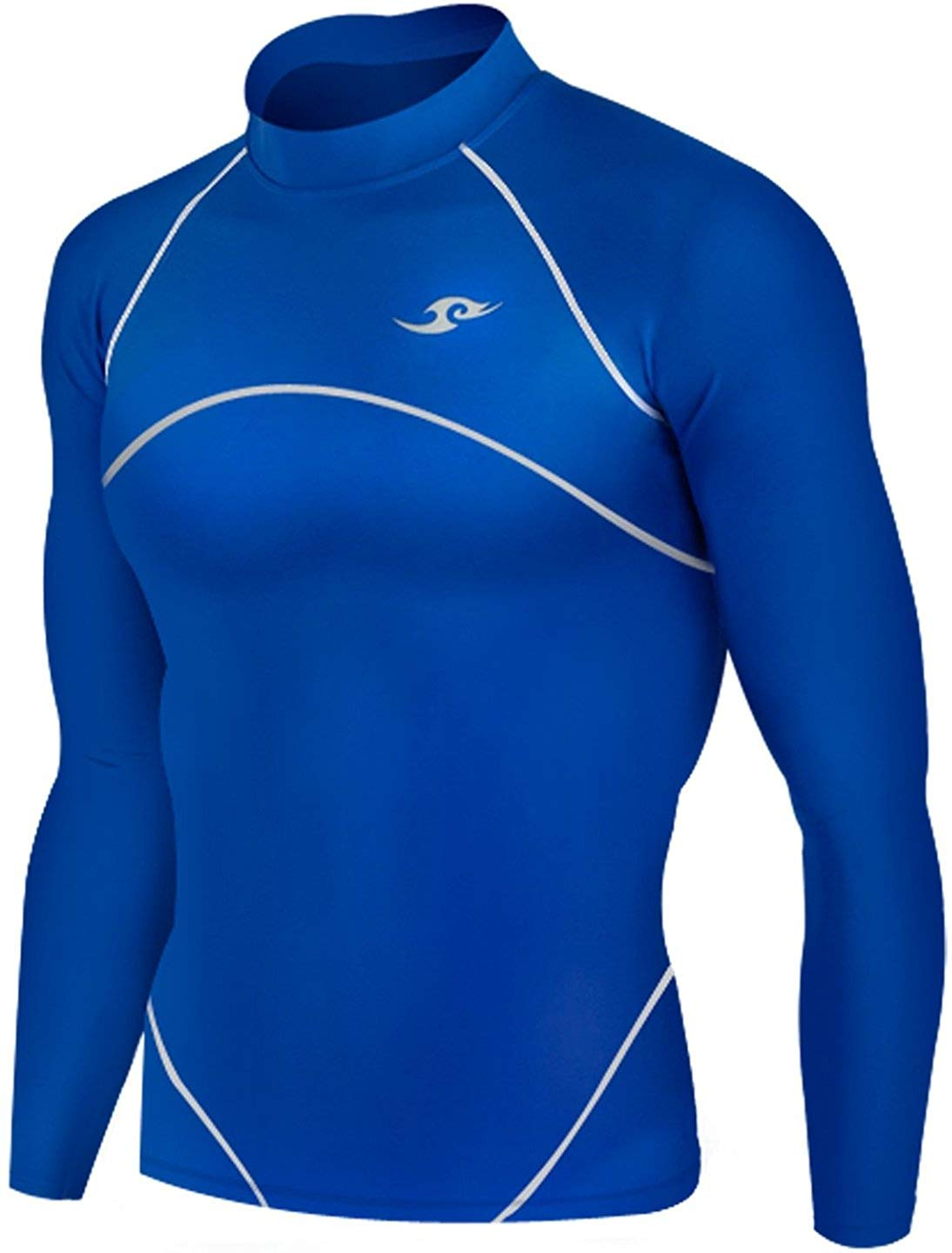 02796b367f Get Quotations · New 061 Winter Warm Skin Tight Compression Baselayer T  Shirt Top Mens Blue