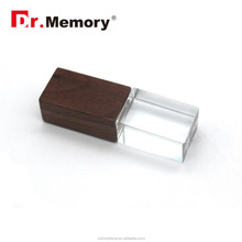 Dr.memory Wooden Maple/bamboo/beech map crystal usb with 3D logo engraved