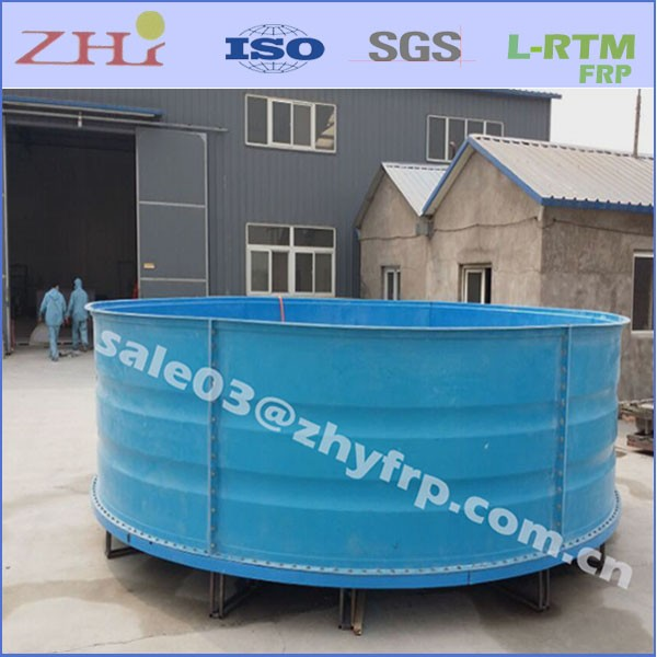 Indoor fiberglass aquaculture commercial fish tanks for for Fish tanks on sale