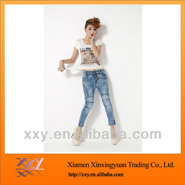 Fashion Cotton Jeans Short Waisted Women High Waist 2012