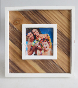 Distressed antique finished handmade wood photo frames
