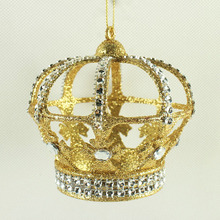 Wholesale glitter crown jewel craft christmas ornaments gift