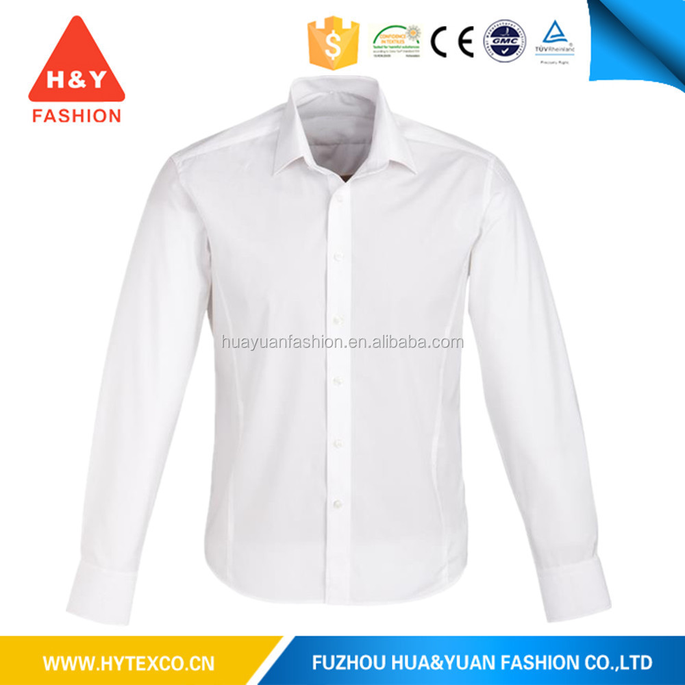 premium quality newest style factory price uniform shirt, cotton long sleeve white shirt, cheap white shirt