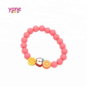 Handmade kids lovely bead bracelet fancy fruit accessories
