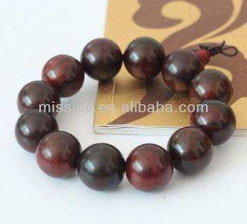 Handmade Buddha Acrylic Beads Bracelet Jewelry Buddhist Prayer Bead Tibetan Wrist Malas