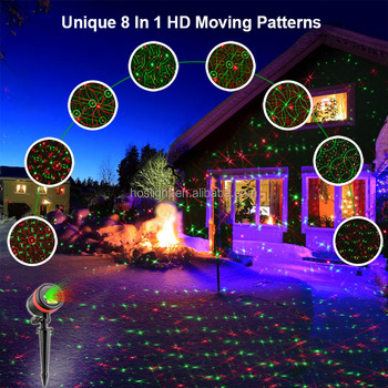 howsan garden and home decor christmas led projector laser lights - Christmas Led Projector