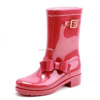 Fashion ladies colorful PVC rain boots wholesale