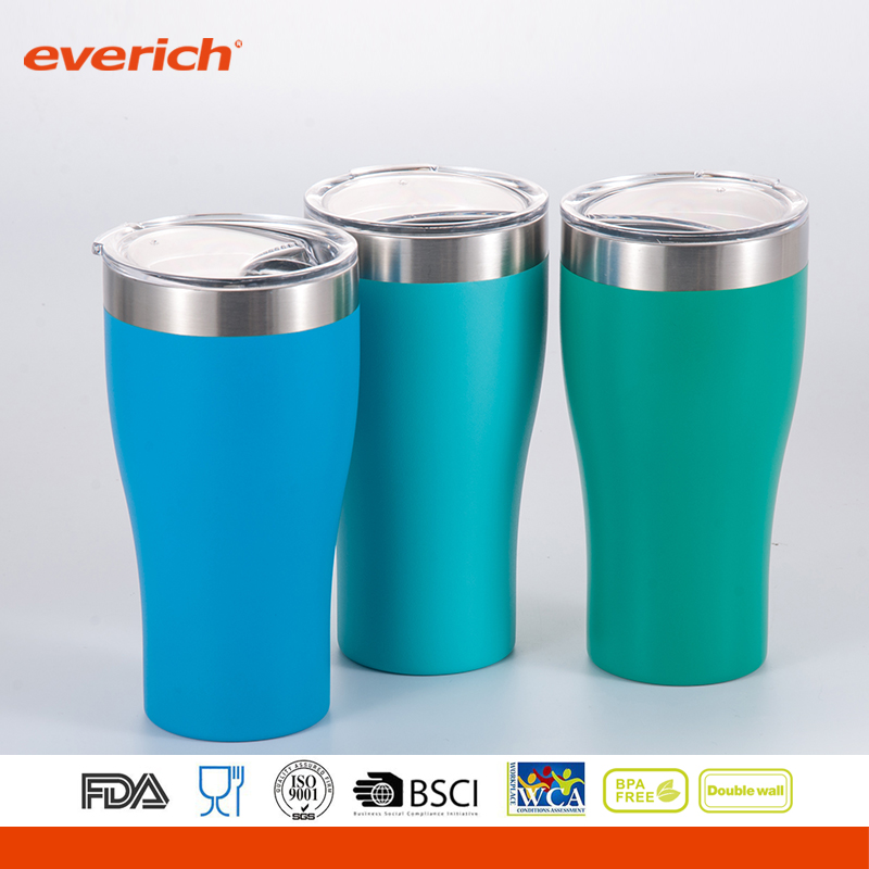 20oz Wholesale Copper In Powder Coated Stainless Steel Beer Tumbler
