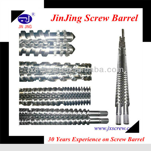 ABS.PP.PVC.PE raw material double conical twin screw barrel