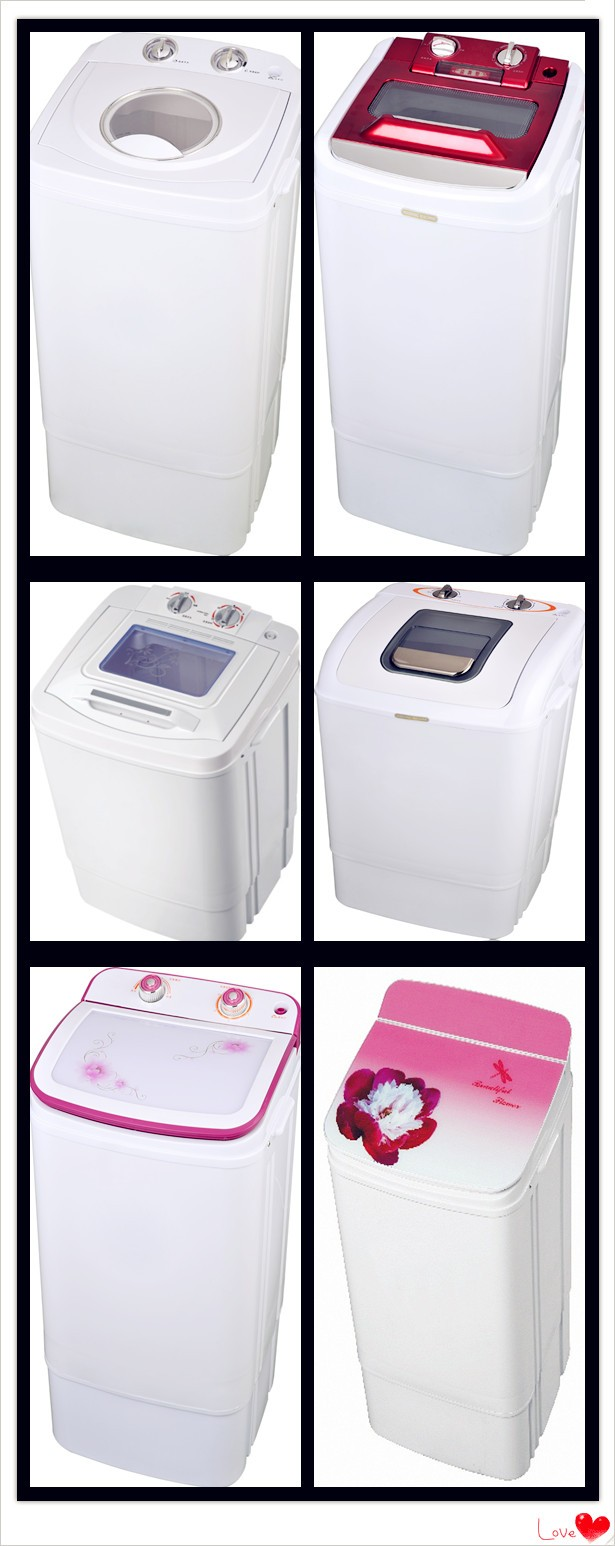 6.8kg single tub semi automatic mini portable washing machine