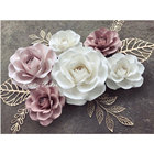 Popular design giant wedding occasion paper flowers backdrop type of artificial flower wall for marriage decoration