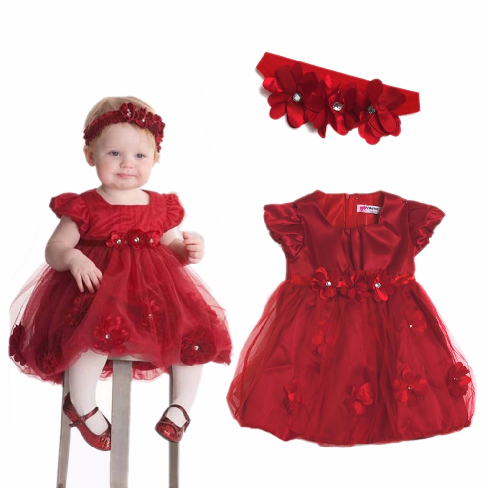 Baby Girls Outfit Party Wedding Princess Flower Fancy Xmas Tutu font b Dress b font Headband