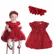 Baby Girls Outfit Party Wedding Princess Flower Fancy Xmas Tutu Dress Headband