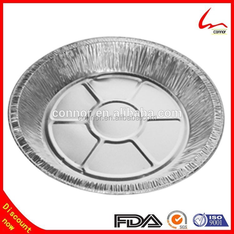 7/8/9 Inch' Round Aluminum Foil Pan/Tin Food Plate/Tray/Decorated Bottom/Smooth/Baking/BBQ/Cake