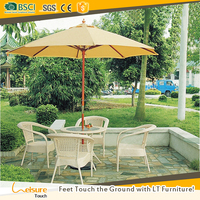 China Outdoor Rattan Furniture Eco-friendly Wicker Dining Room Furniture Patio Chair With Table