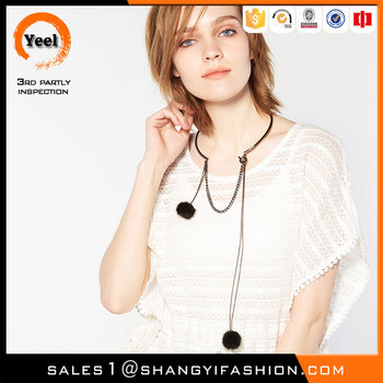 YEEL 2016 spring Europe new style loose design short sleeve knitted crochet poncho