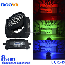 Factory best price rgbw 36*18w 6in1 zoom led moving head wash