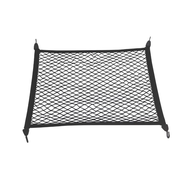 Cargo Bungee Net with 4 Adjustable Hooks for Car SUV Rooftop Rack & Truck Bed