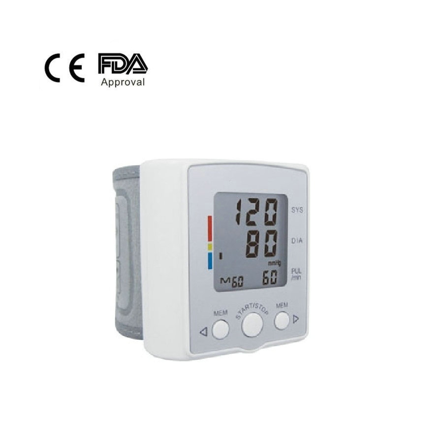 New digital automatic wrist blood pressure monitor with pulse rate meter