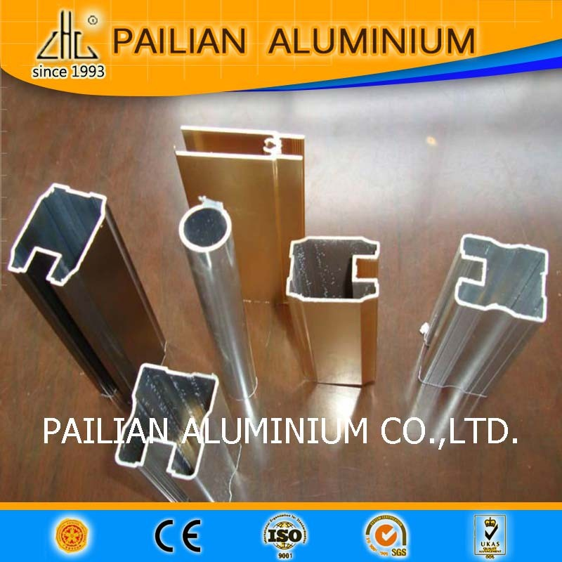 Hot!! Hoge kwaliteit glazen vitrinekast met led verlichting, glas aluminium vitrinekast