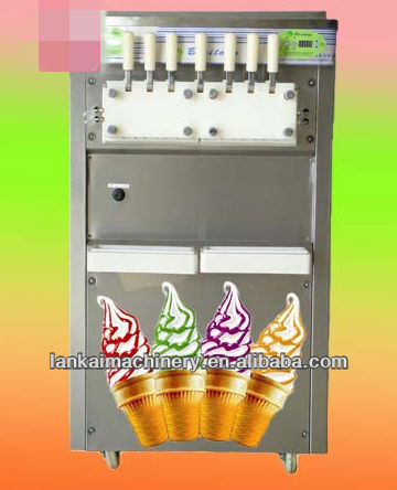 Good Soft / hard ice cream machine Eisbecher Maker Softeismaschine Rainbow Jam / Five Color Automatische Eiscrememaschine