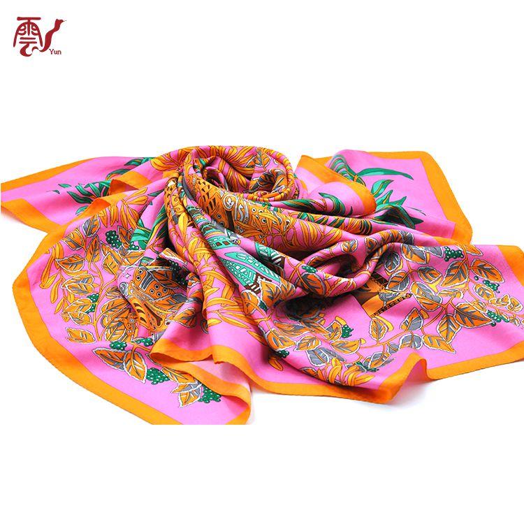 Fake Designer Both Sides Printing Vietnam Silk Twill Scarves