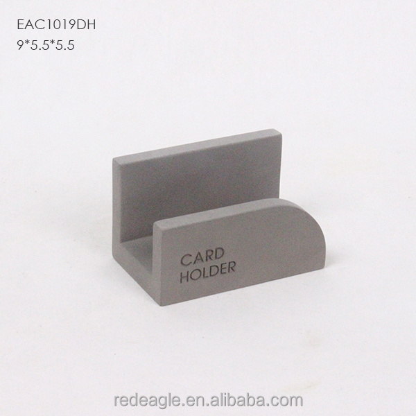 Table Unique Concrete Cute Business Card Holder With Logo Deboss Working Desktop Holders For