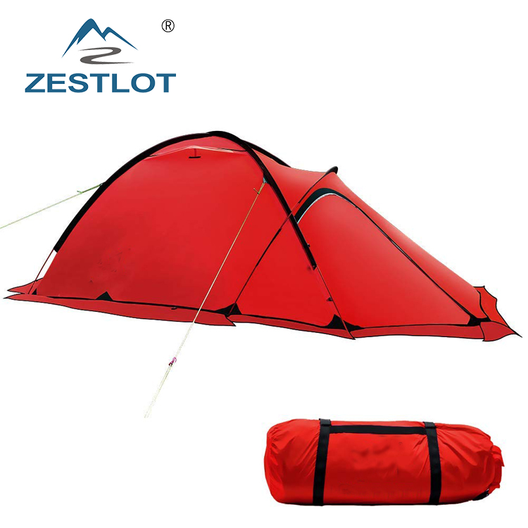4 Season Aluminum Luxury Family Camping Ultralight 2 Person <strong>Tent</strong>